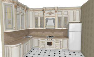 Пример 3D проекта кухни