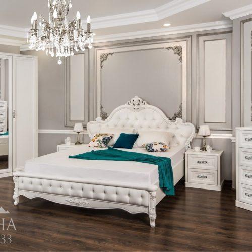 Спальня Мишель белая матовая